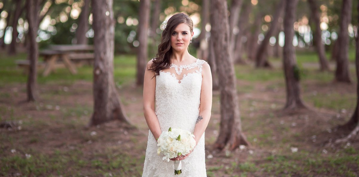 beautiful bride posing for photo at her beach wedding in key west florida