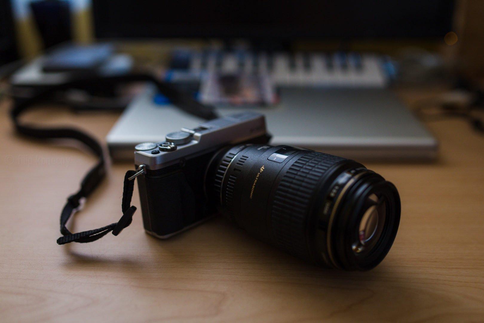 canon lens on fujifilm camera