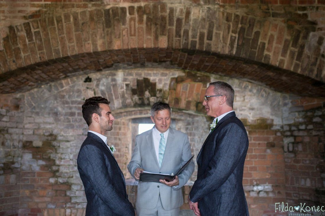 gay couple during their wedding ceremony in key west florida