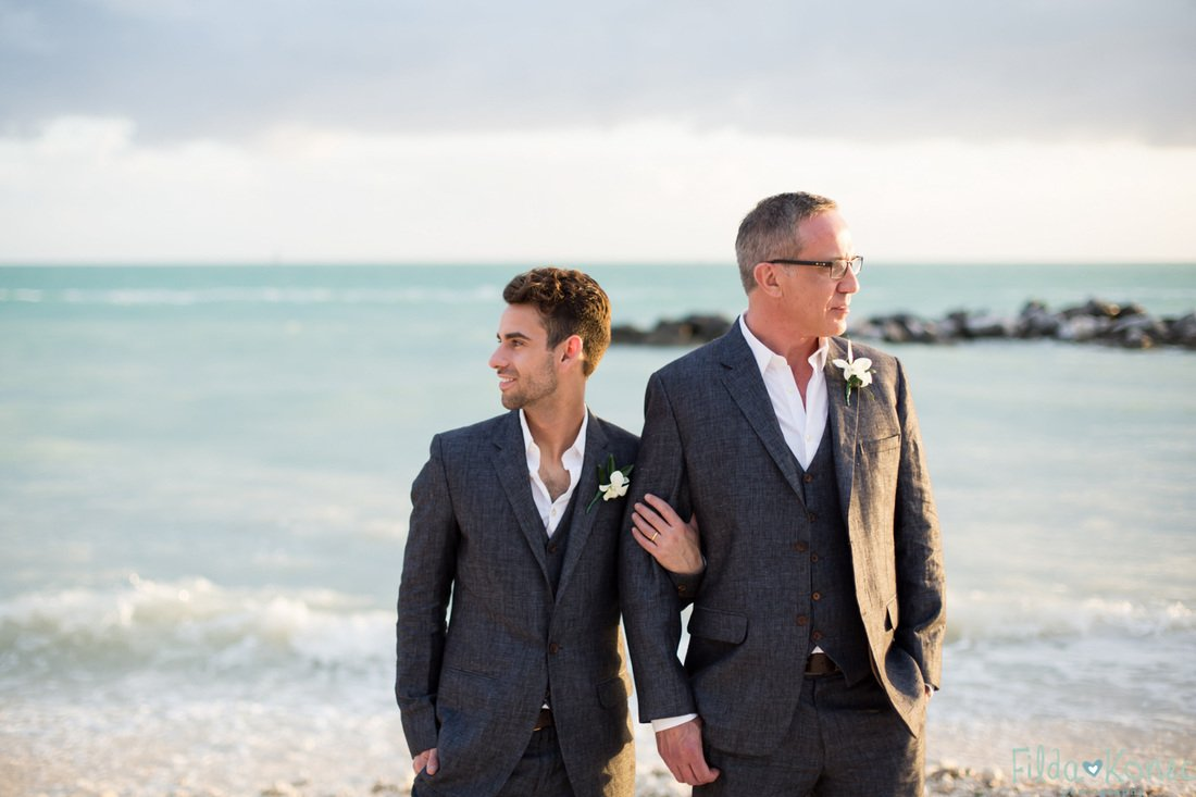 gay couple on the beach in key west florida