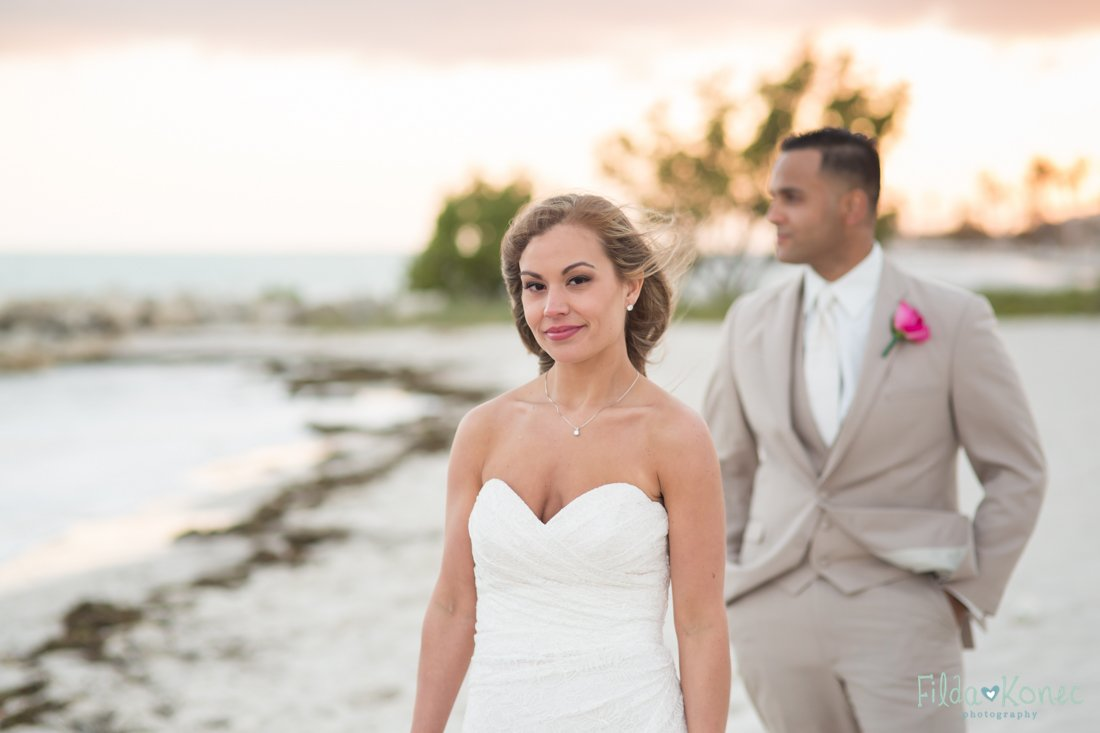 bridal portrait on smathers beach in key west