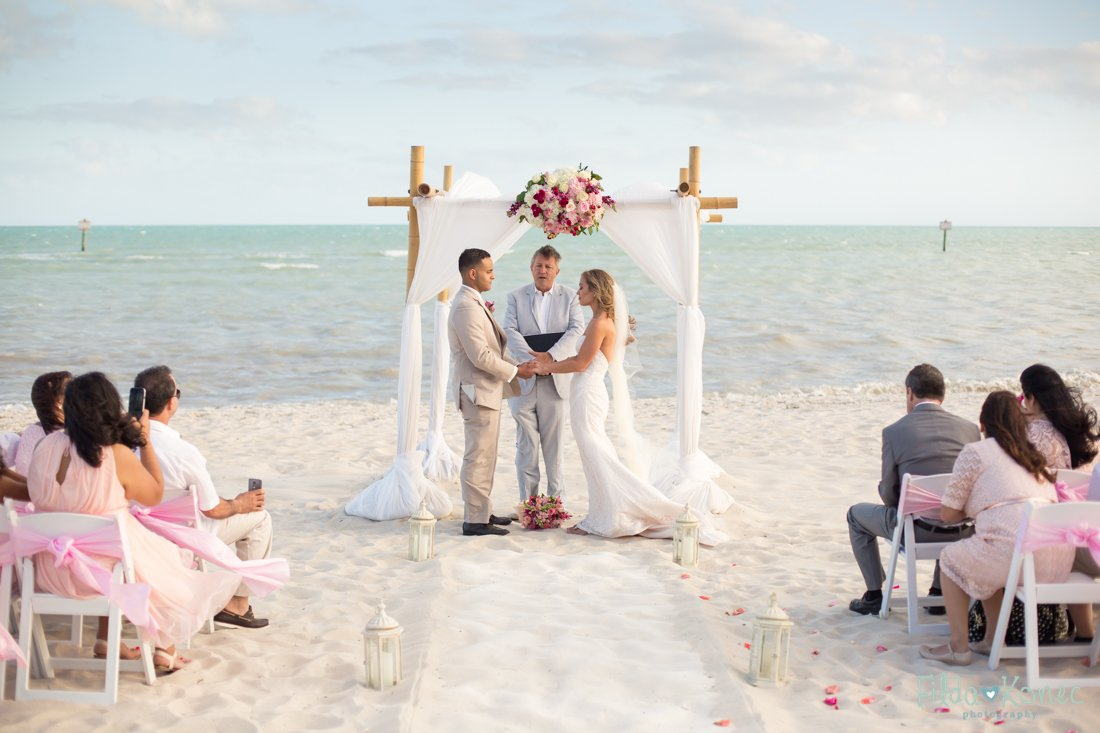wedding ceremony on smathers beach in key west florida