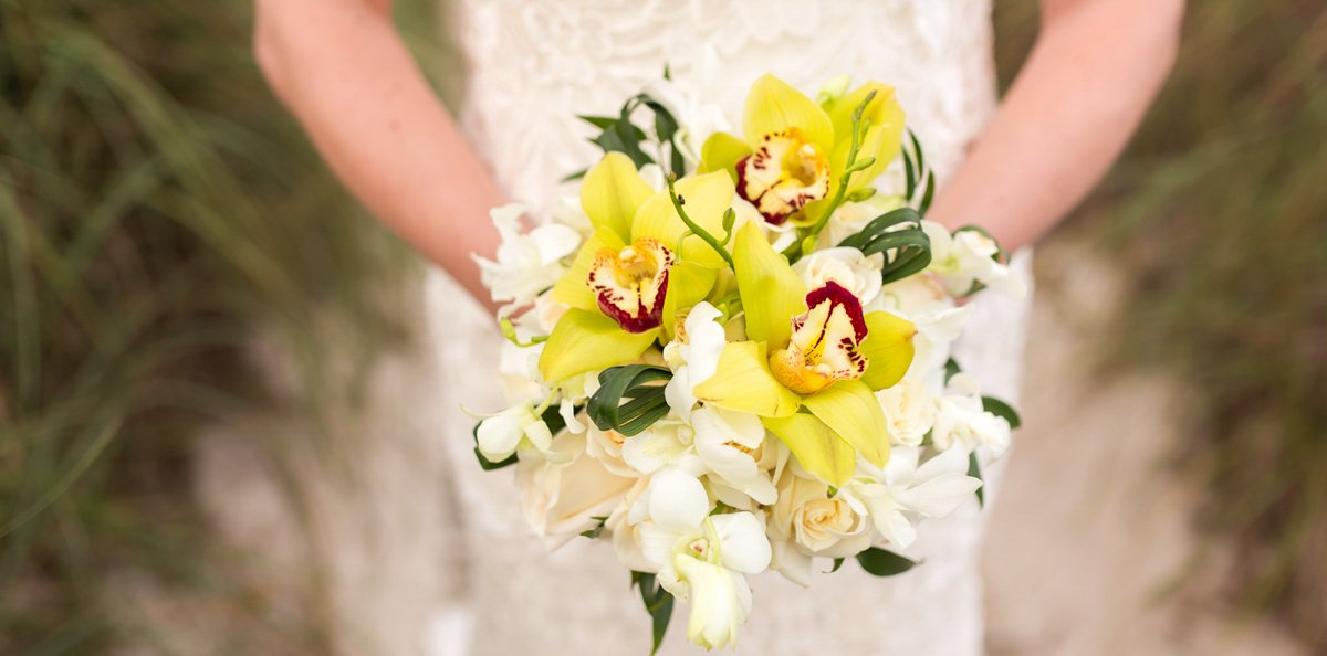 close up photo of beautiful bridal bouget