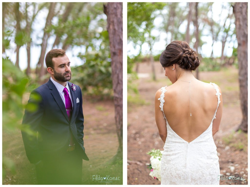 portrait of bride and groom at fort zachary taylor in key west, florida