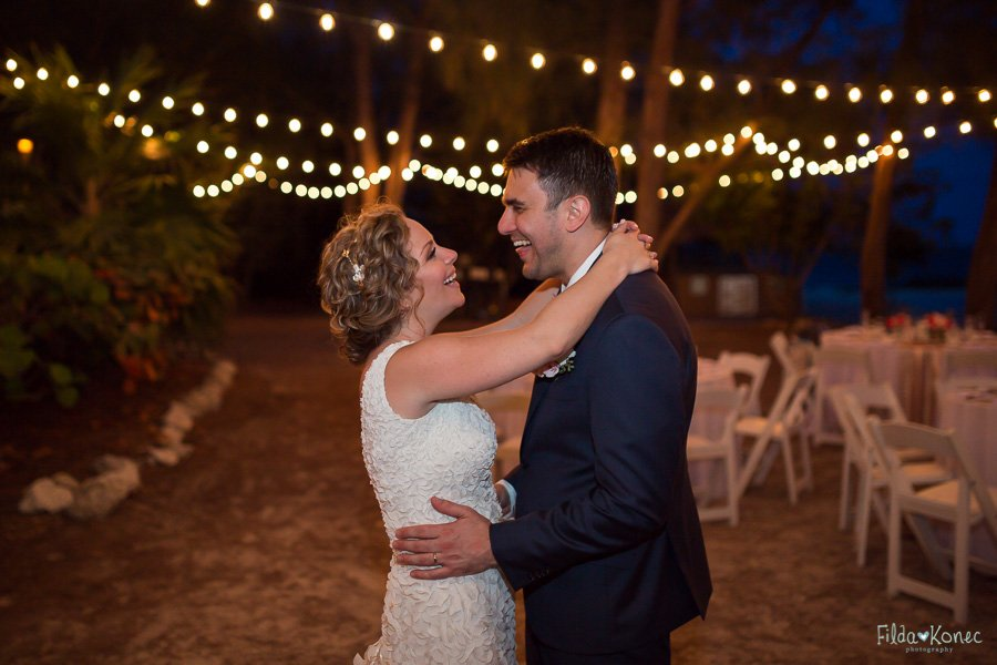 dj at wedding reception party at fort zachary in key west florida