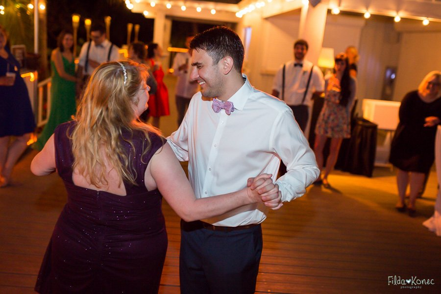 bride dances at wedding reception