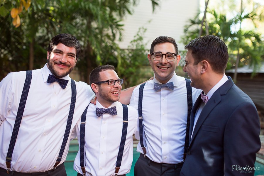 boys hanging out before the wedding