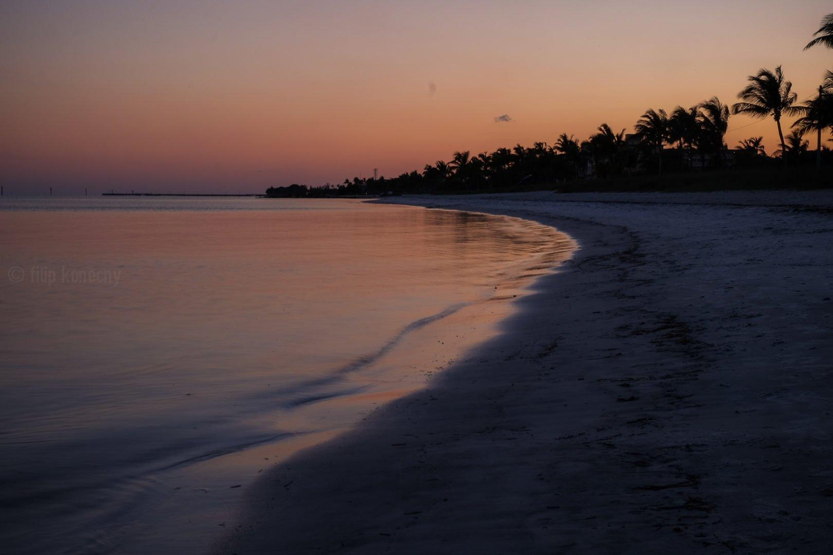 sunset on smathers beach