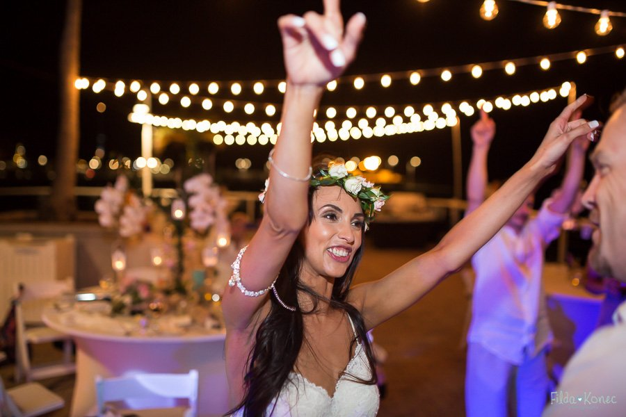 bride dances at her wedding at westin pier reception