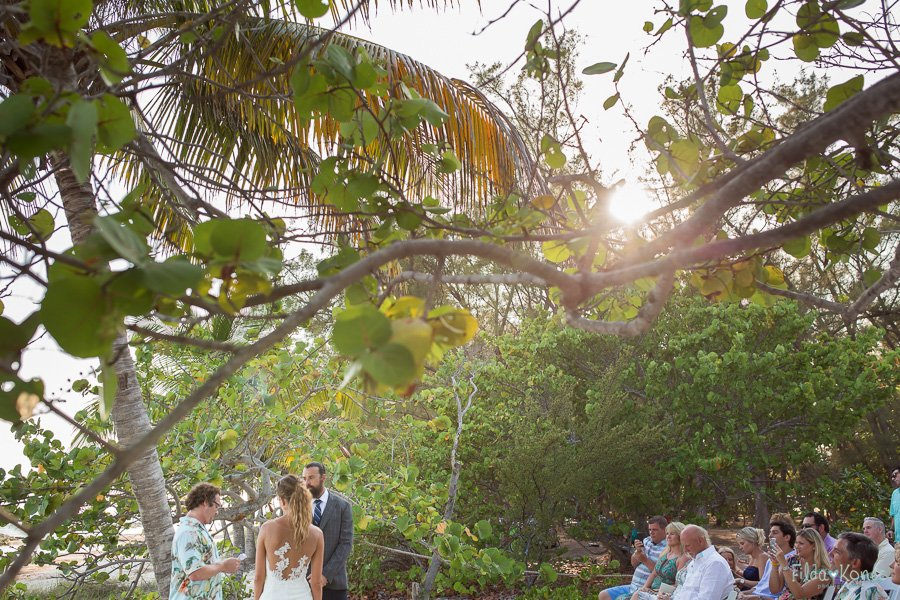 diggerent angle of the beach ceremony at key west beach