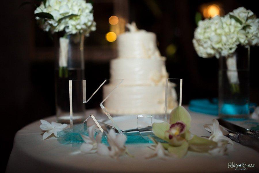 wedding cake set up at sheraton suites in key west