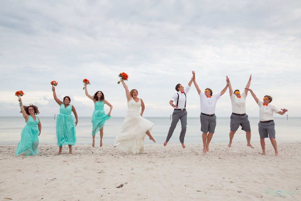 mandatory jumping photo with bridal party