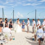 beach ceremony wide angle