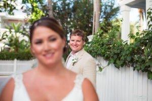 groom looking into camera