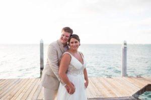 wedding portrait on the pier