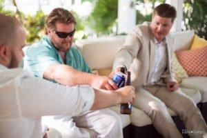 guys having beer