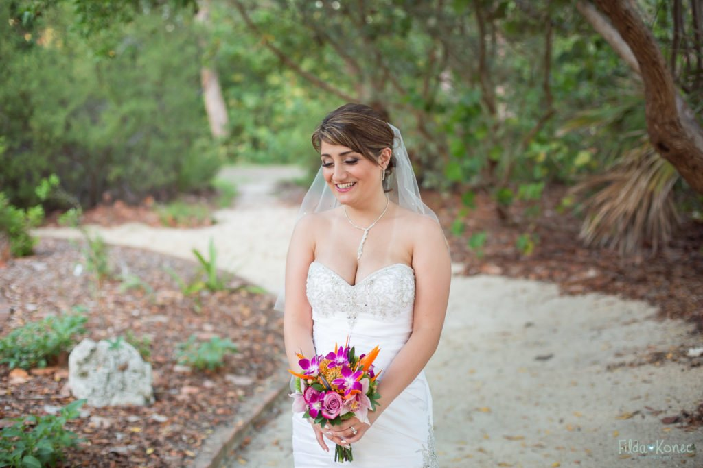 photo of bride holding her bouquet
