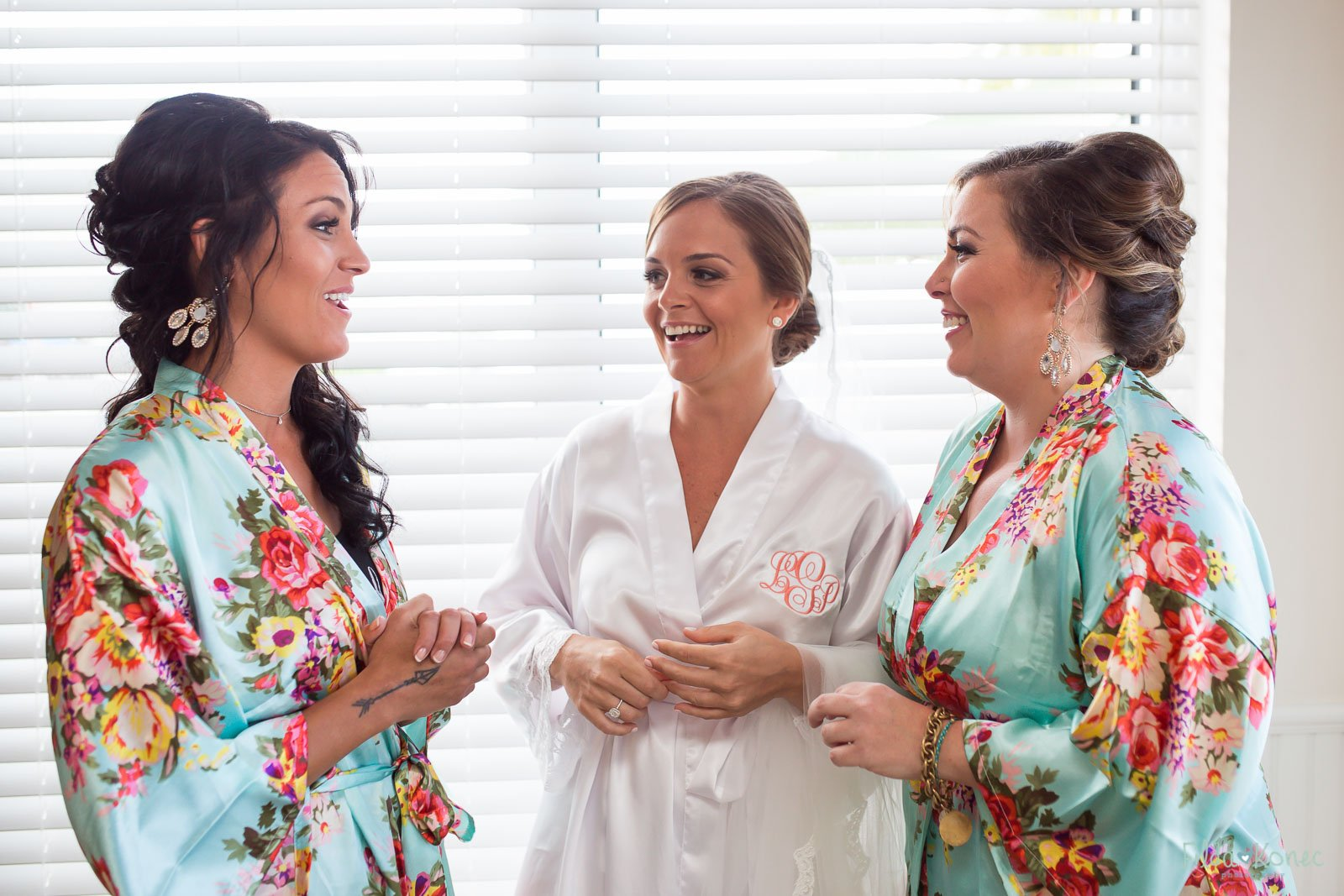 key west bride with her girls
