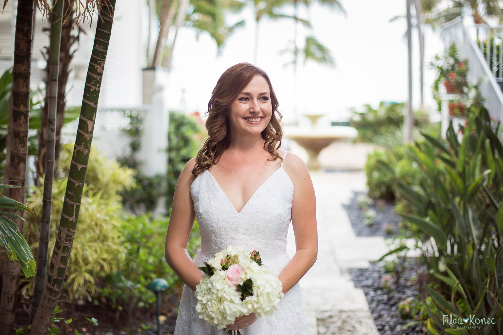 beautiful bride at southernmost beach resort