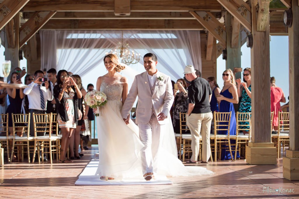 ceremony recessional at reach gazebo