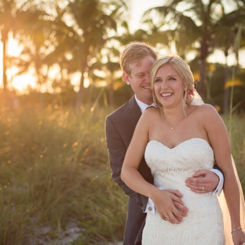 just married on key west smathers beach