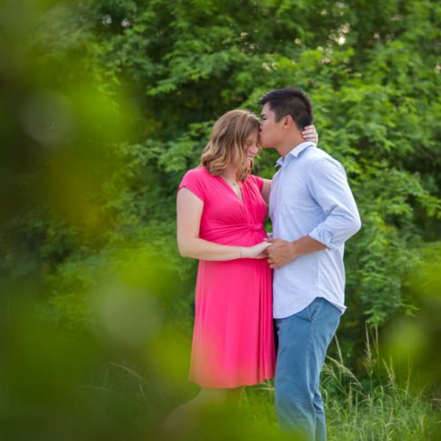 engagement photo in key west park