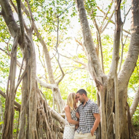 couple engaged in key west