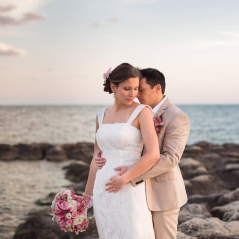 key west beach wedding at sunset