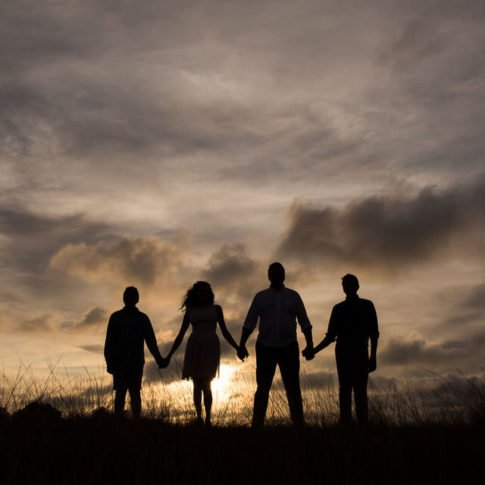 family photography at sunset in key west florida