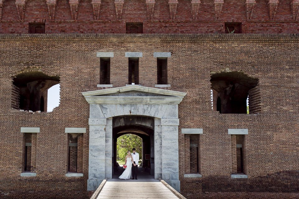 fort jefferson wedding photo