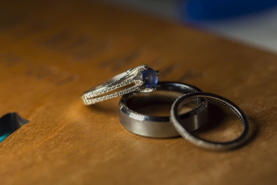 wedding rings detail at key west wedding