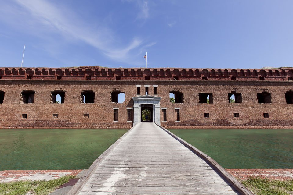 photo of entrance to fort jefferson
