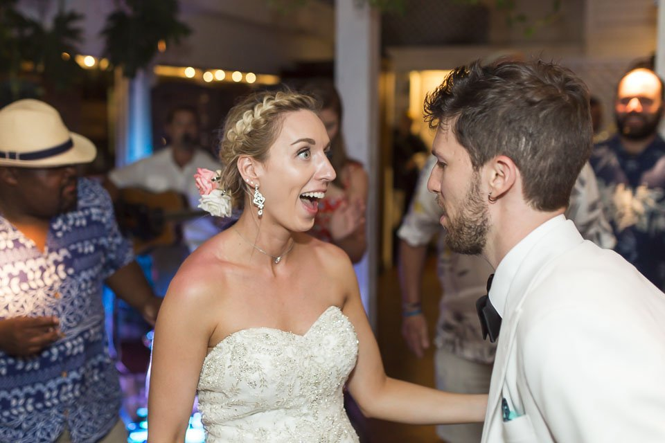 bride and groom dance at their wedding reception