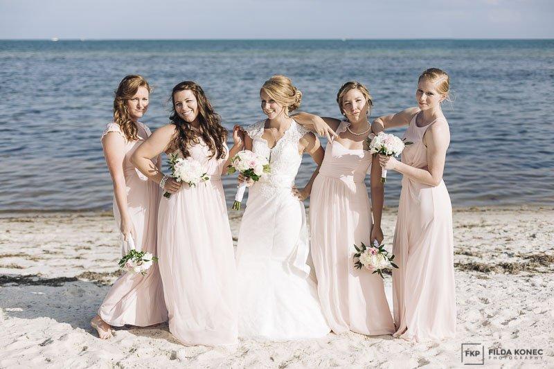 wedding formal photo at smathers beach wedding in key west