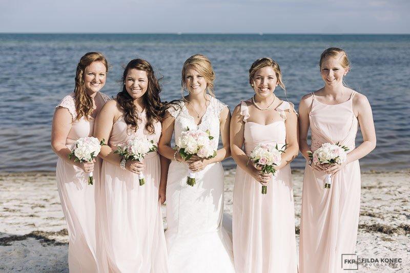 key west beach wedding photography with beautiful girls