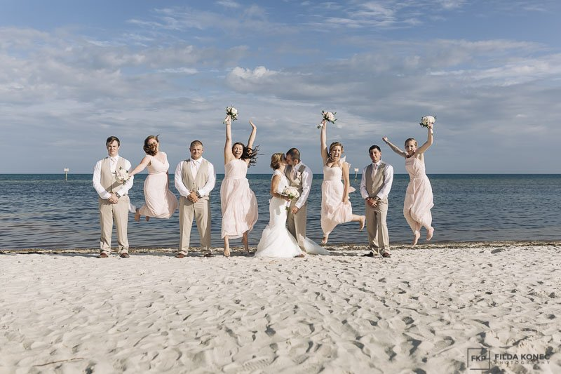 wedding day on the beach in florida keys