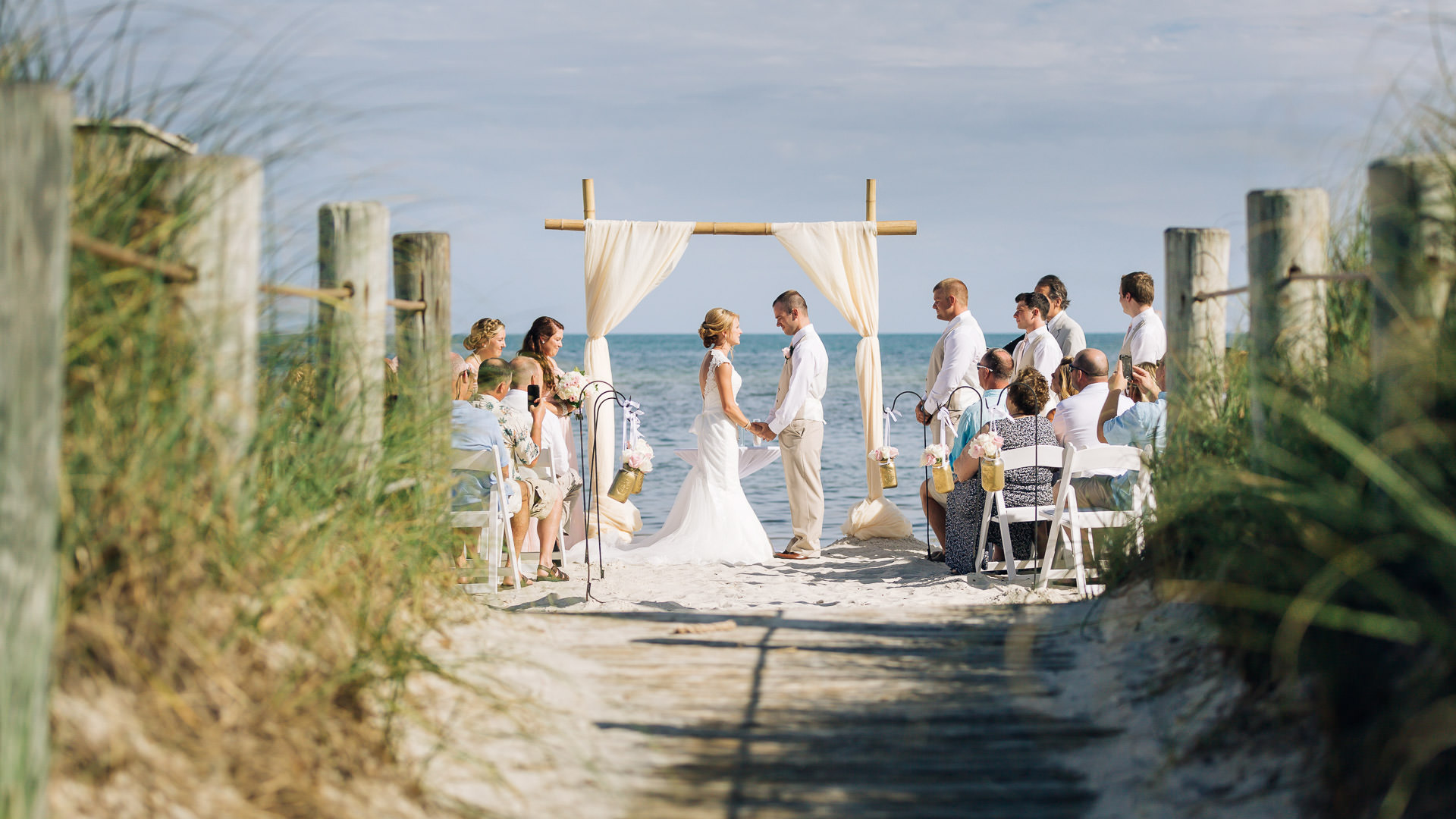 smathers beach wedding in key west