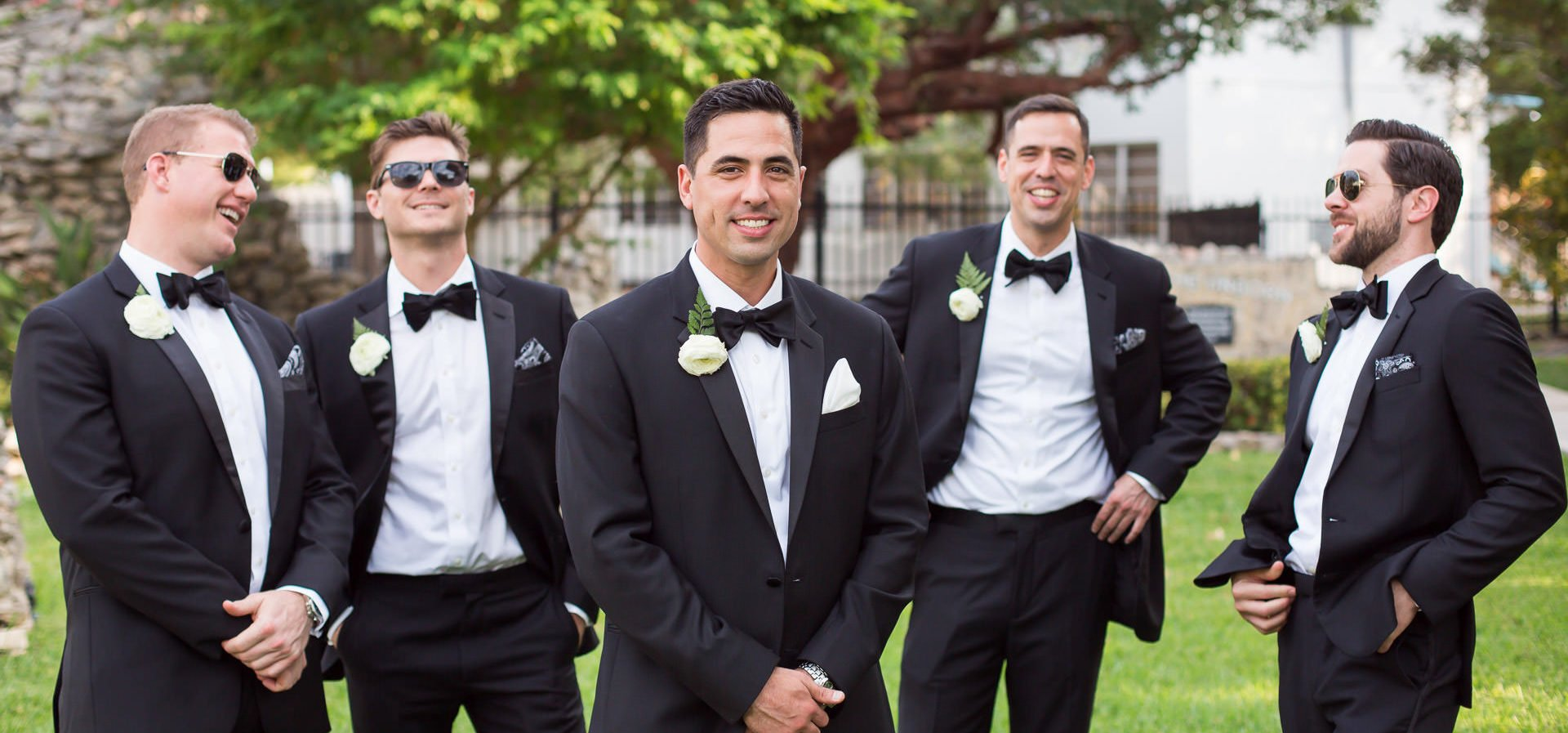photo of groomsmen in key west