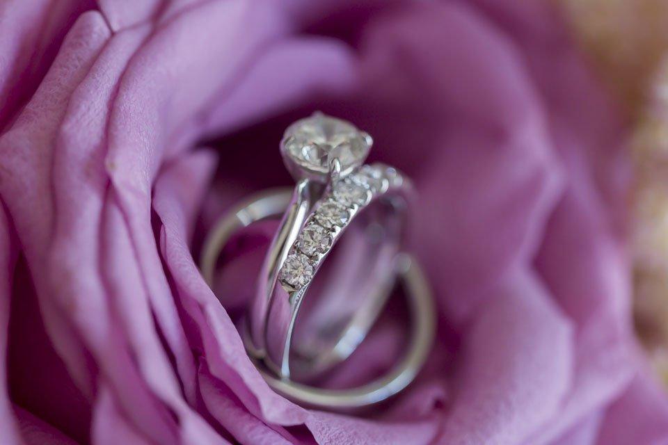 close up of wedding ring key west yacht club wedding