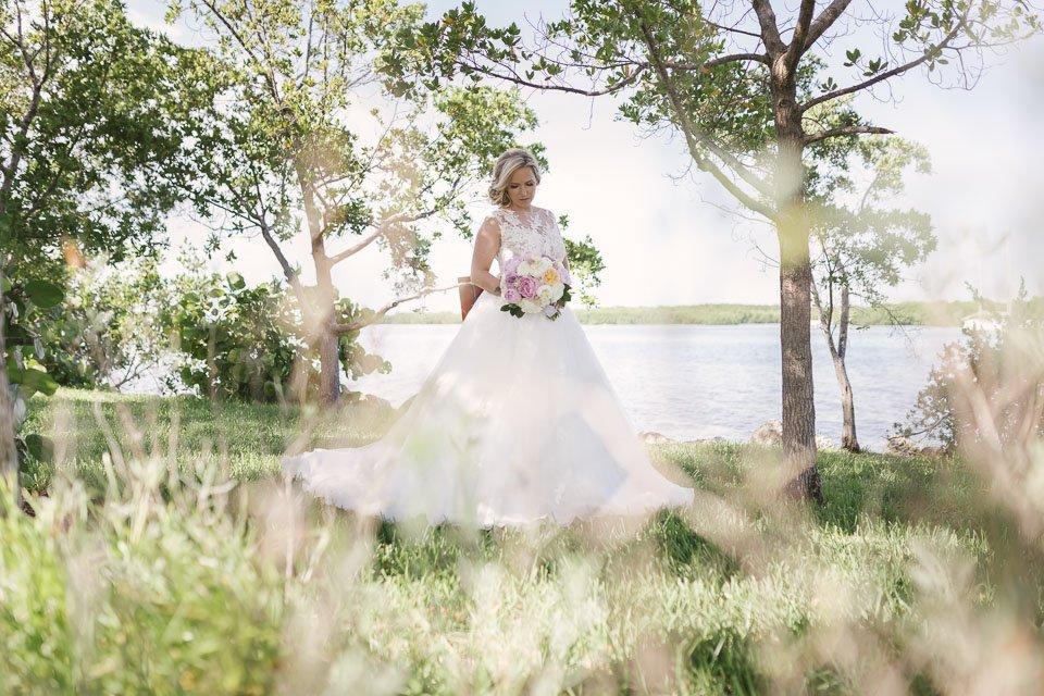 bridal portrait in key west yacht club wedding