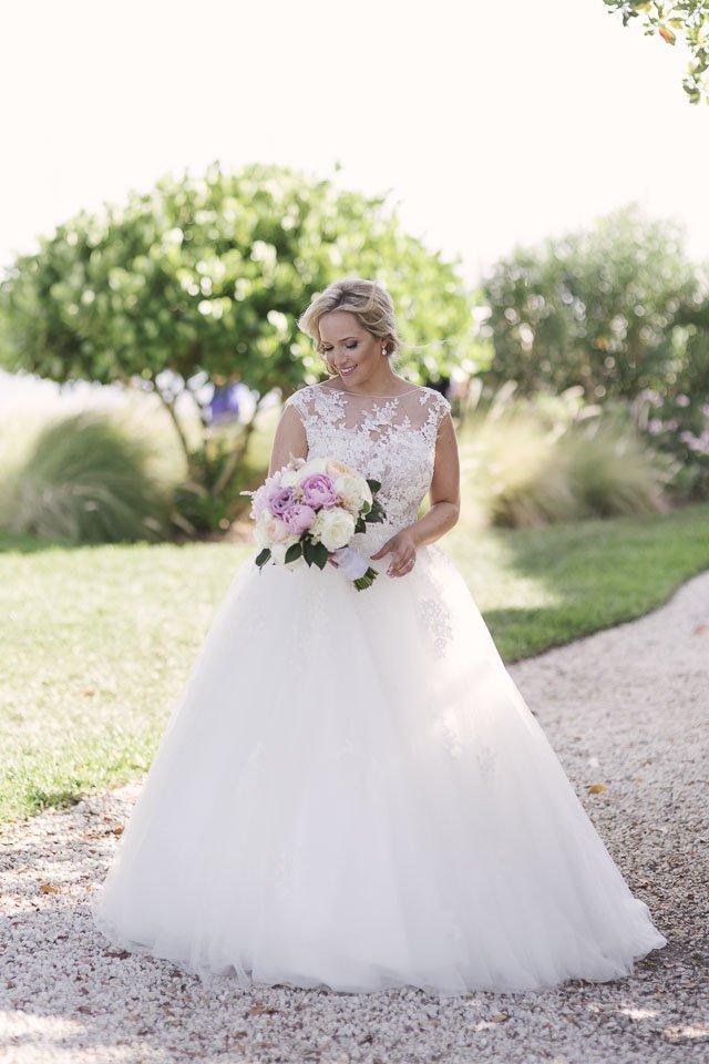 bridal photo in the key west yacht club