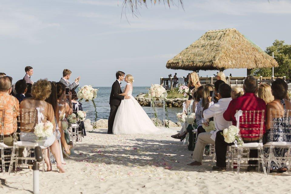first kiss wedding ceremony key west yacht club