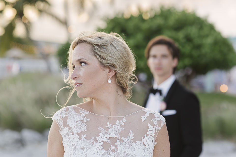 bridal portrait in key west beach