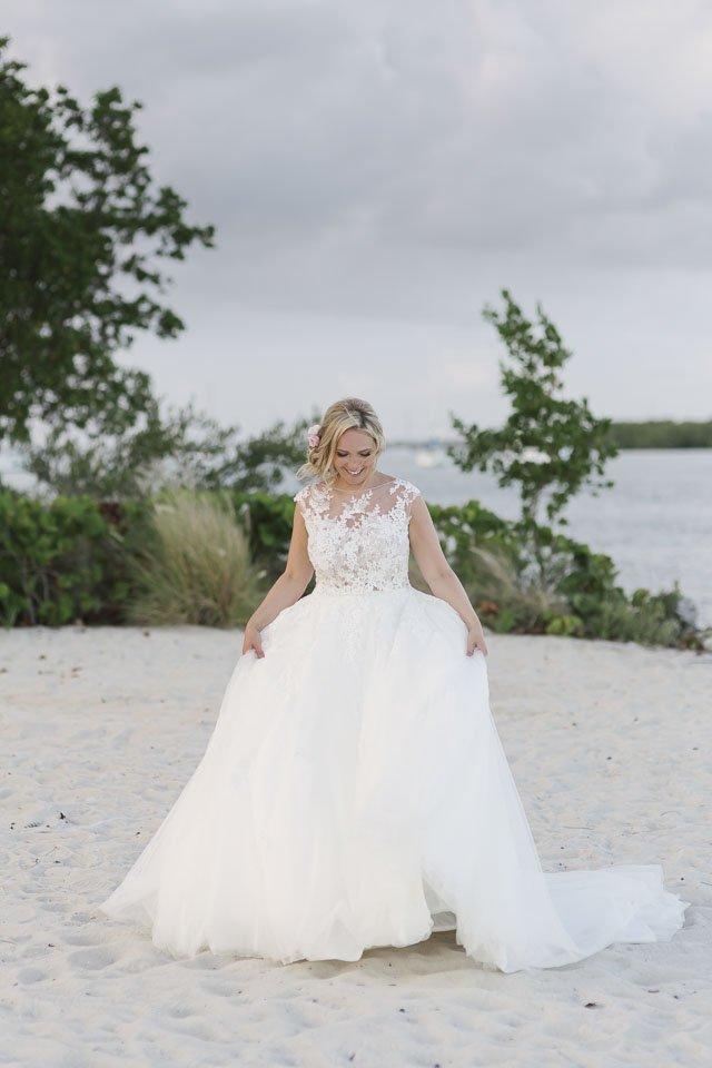 bride at key west yacht club