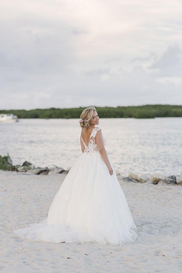 bride at key west beach
