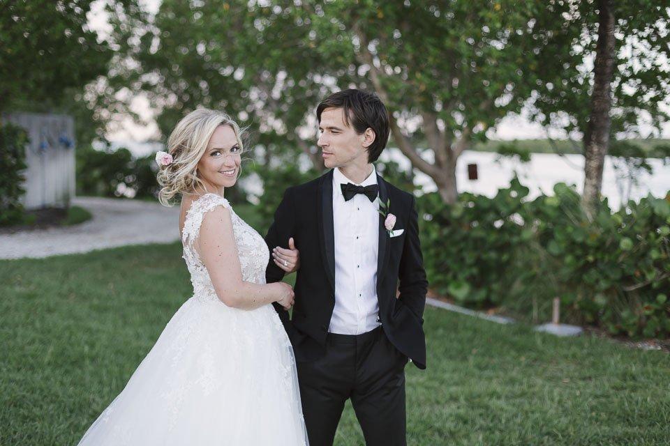 key west yacht club bridal photo