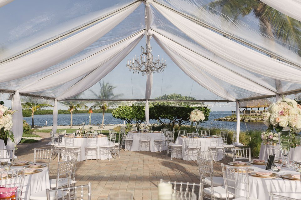 reception setup in key west yacht club