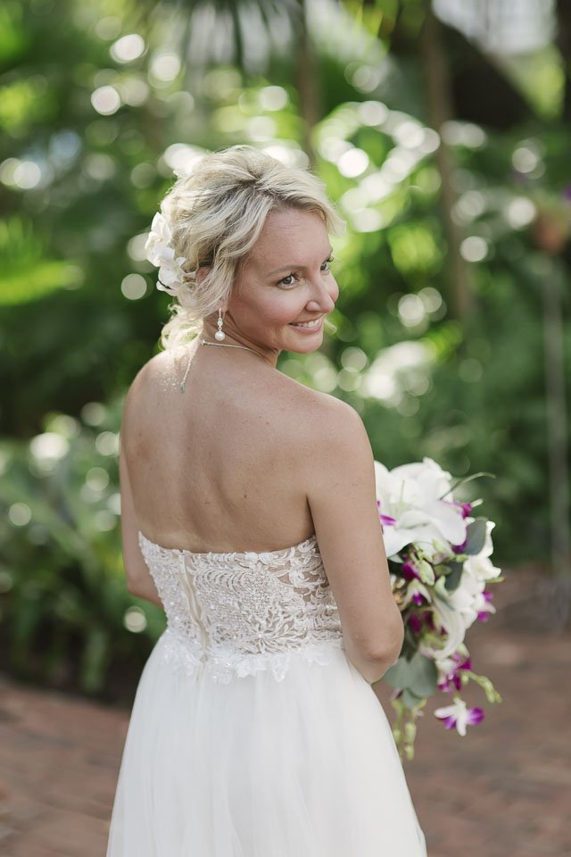 beautiful bride at her key west wedding