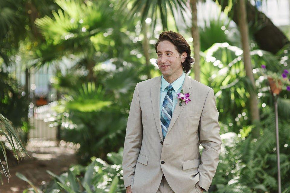 groom at his key west wedding
