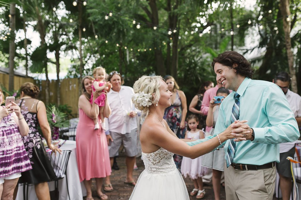 first dance at old manor weddings in key west florida